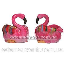 Садовая фигура Кашпо Фламинго