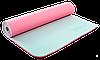 Коврик для фитнеса и йоги Zelart TPE двухслойный 6 мм розово-серый
