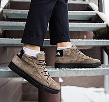 """Зимние ботинки, кроссовки на меху Look Force """"Коричневые"""", фото 3"""