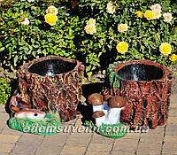 Садовая фигура Пенек с опятами и Пенек со змеей, фото 1