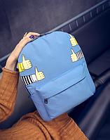 Рюкзак городской молодежный Like Голубой, фото 1