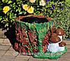 Садовая фигура подставка для цветов Пенек с опятами и Пенек со змеей, фото 2