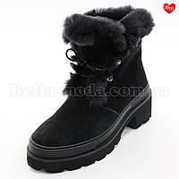 Женские зимние ботинки Sasha Fabiani тракторная подошва, фото 1