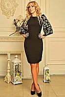 """Женское платье с перфорацией """"Роус"""" (черное), фото 1"""