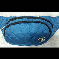 Бананка Chanel стёганая женская три отдела сумка на пояс барыжка , фото 3