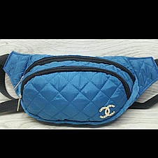 Бананка Chanel стёганая женская три отдела сумка на пояс барыжка , фото 2