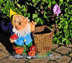 Садовая фигура Кашпо Гномы, фото 2