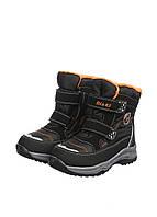 Термоботинки Biki 27(р) Черный, оранжевый C-B22-95-B