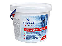 Хлор-шок таблетки 20 грамм Shock Chlor Tabs 20 FROGGY 4кг