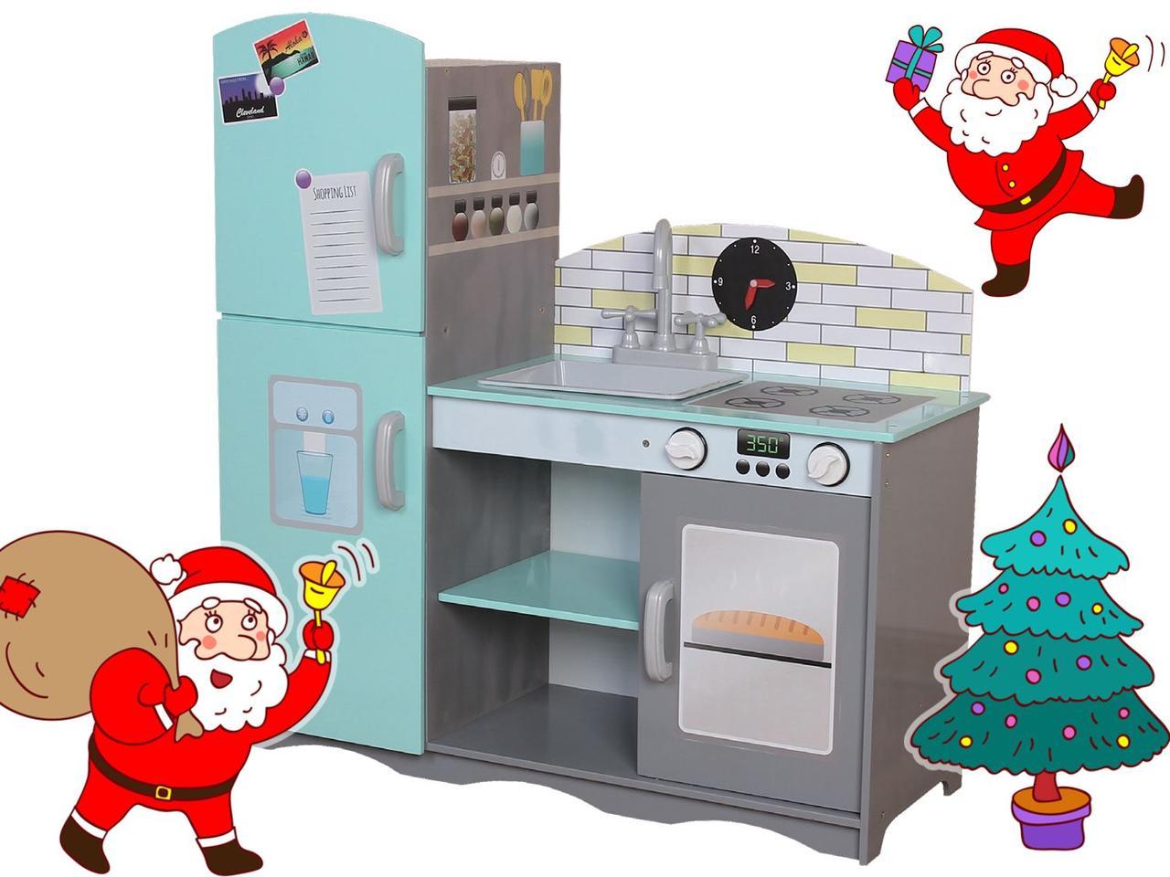 Деревянная кухня для детей Blue.Детская кухня  ECOTOYS