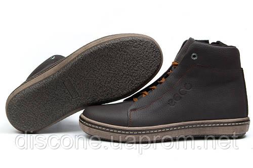 Зимние ботинки на меху Ecco SSS Shoes, коричневые (30793), р.  [  40 41 43 45  ]