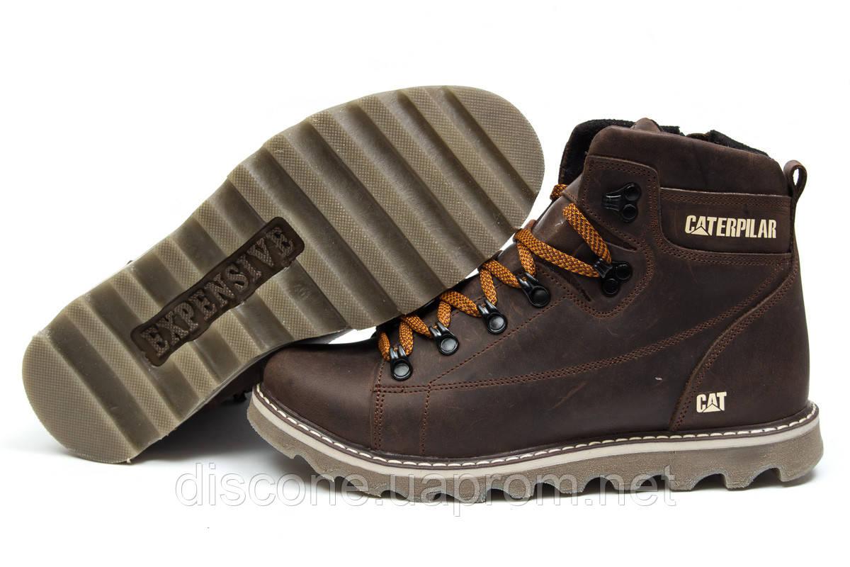 Зимние ботинки на меху ► CAT Caterpilar,  коричневые (Код: 30752) ► [  40 42  ] ✅Скидка 42%