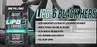 Жиросжигатель Nutrex Lipo 6 Black Hers Ultra concentrate, 120 caps (женская)