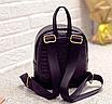 Рюкзак женский кожзам змеиный принт Черный, фото 4