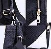 Рюкзак женский кожзам змеиный принт Черный, фото 7