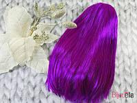 Фиолетовый прямой парик-каре на Новый Год, тематическую вечеринку или утренник