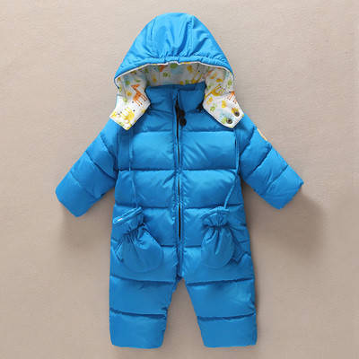 Детский комбинезон + рукавички Синий