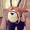 Рюкзак женский кожзам змеиный принт Бежевый, фото 2