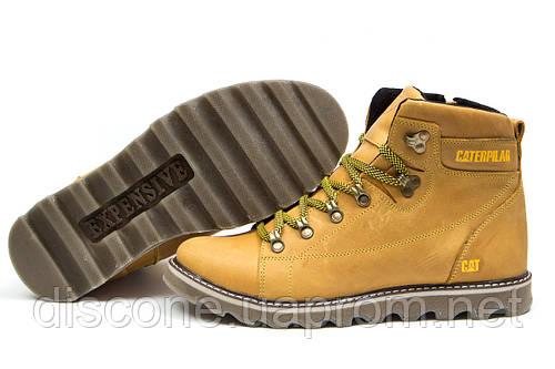 Зимние ботинки на меху CAT Caterpilar, песочные (30751), р.  [  42 43  ]