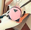 Рюкзак женский кожзам змеиный принт Розовый, фото 3