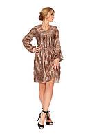Нарядное женское платье №1117 (пудровый)