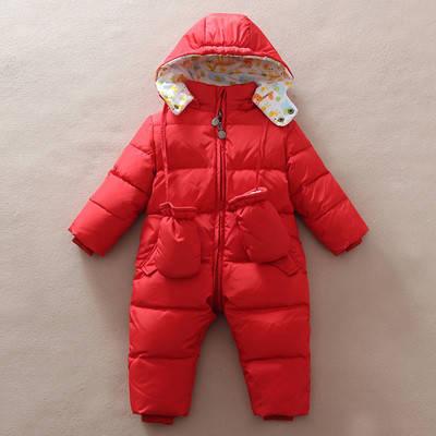 Детский комбинезон + рукавички Красный