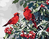 Картина по номерам - Рождественские птички