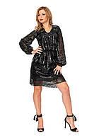 Нарядное женское платье №1117 (черное)