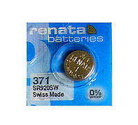 Батарейка для часов Renata 371 (SR920SW) Silver oxide G6 таблетка часовая, фото 1