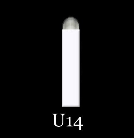 Иглы для микроблейдинга, перманентного магияжа №14 форма U 0,18 мм