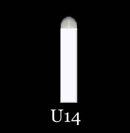 Иглы для микроблейдинга, перманентного магияжа №14 форма U 0,18 мм, фото 2