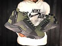 Зимние кроссовки на меху ACRONYM x Nike Air Huarache, фото 1