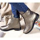 Кожаные ботинки женские демисезонные на флисе Рембо 36р. 01049, фото 3