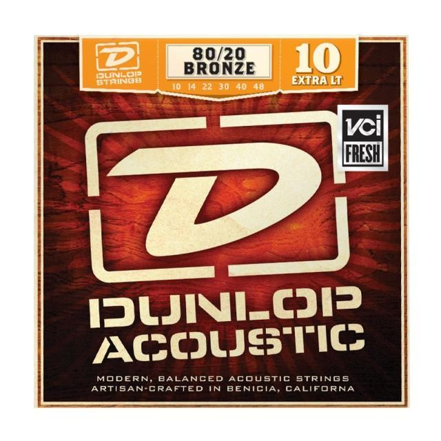 Струни для акустичної гітари DUNLOP DAB1048 80/20 BRONZE EXTRA LIGHT (10-48)