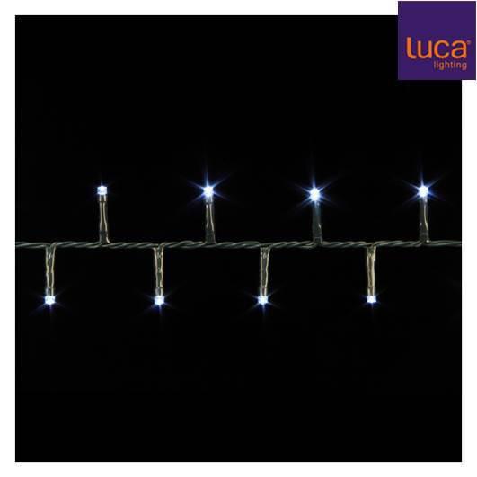 Гирлянда Luca Lighting SNAKE LIGHT 140LED 8 FUNCTION IP44 - WHITE 1034267-EDL L280CM