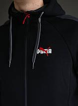 Спортивный зимний костюм с капюшоном мужской Puma на флисе , фото 3