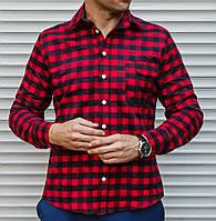 296353b6601322c Рубашка мужская в клетку с длинным рукавом оптом в Украине. Сравнить ...