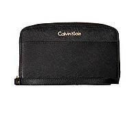 Женский оригинальный кожаный кошелек Calvin Klein