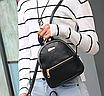 Рюкзак женский мини кожзам Samantha Черный, фото 3