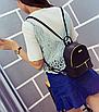 Рюкзак женский мини кожзам Samantha Черный, фото 4