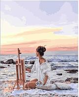 Живопись по номерам Рассвет на побережье (PGX25437) 40 х 50 см  Premium