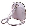 Рюкзак женский мини кожзам Samantha Серый, фото 8