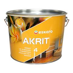 Глубокоматовая краска для стен и потолка Eskaro Akrit 4 9,5 л (Эскаро Акрит 4)