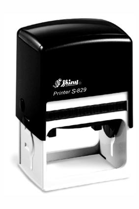 Оснастка пластиковая для штампа Shiny S-829ч.-0501 40Х64 мм, черная, фото 2