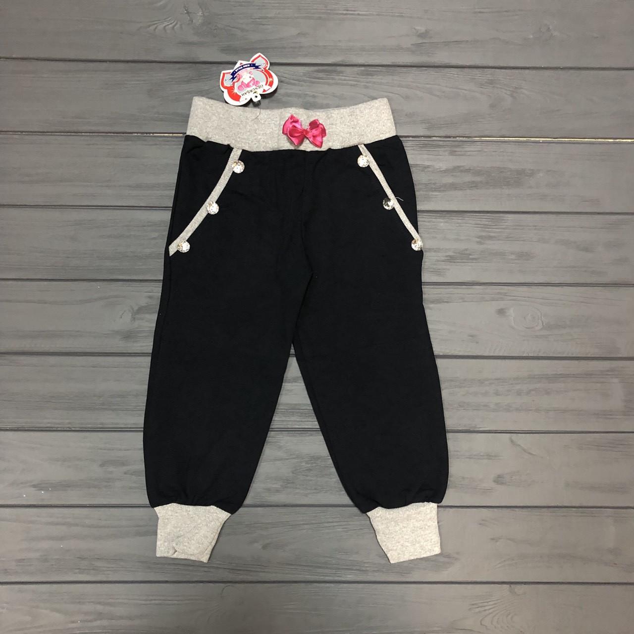 Детская одежда оптом Штаны спортивные для девочек оптом р.104-110-116