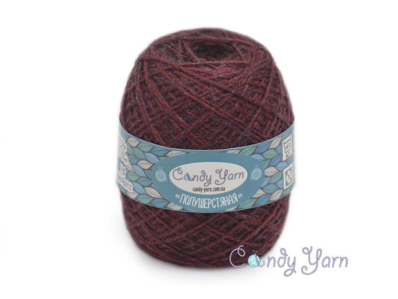 Candy Yarn Полушерстяная, Темно-бордовый №192/С