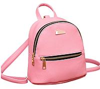 Рюкзак женский мини кожзам  Samantha Розовый, фото 1