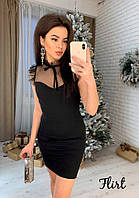 Платье 👗 «Фантазия»👗 с елегантной вставкой сетки