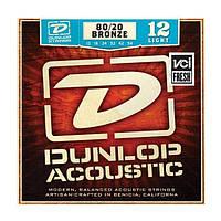 Струни для акустичної гітари DUNLOP DAB1254 80/20 BRONZE LIGHT (12-54)