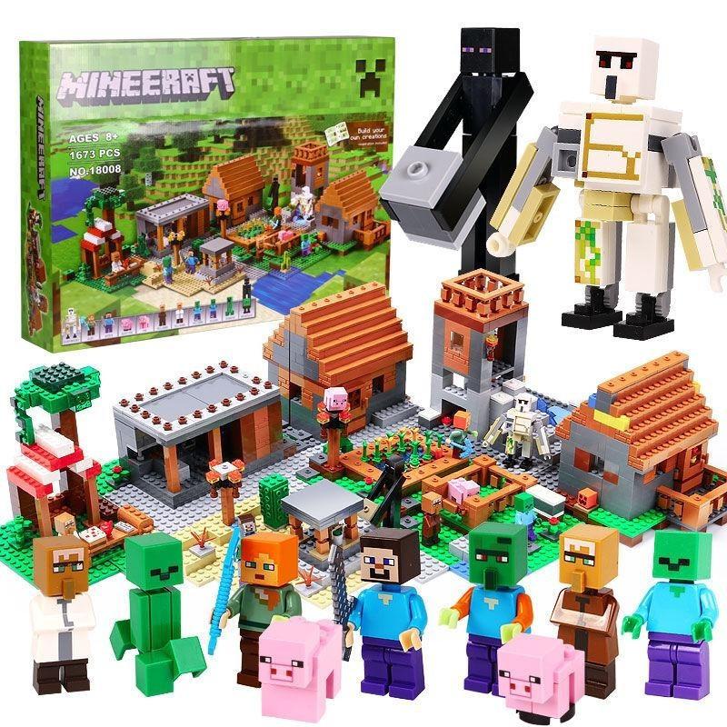 "Конструктор ""Деревня"" Lepin 18008 Minecraft 1673 деталей лего майнкрафт"